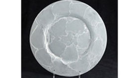 Image of a Base Plates:  Alabaster Silver Glass 13""