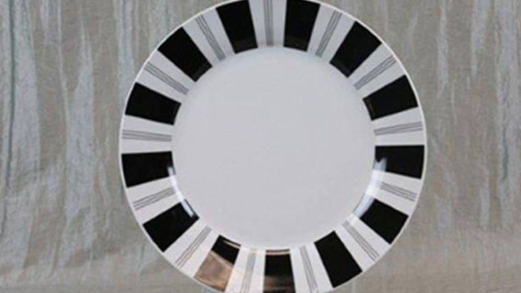 Picture of a Base Plates: Tuxedo Stripe 12""