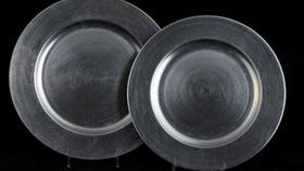 Image of a Base Plates: Lacquer Silver 12""