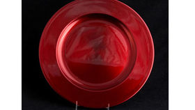 Image of a Base Plates: Lacquer Metallic Red 12""
