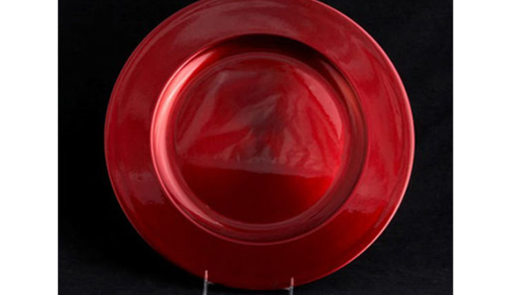Picture of a Base Plates: Lacquer Metallic Red 12""