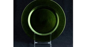 Image of a Base Plates: Lacquer Metallic Green 12""