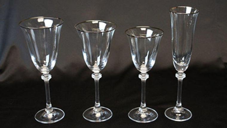 Picture of a Glassware: Empire Platinum Rim White Wine Glass