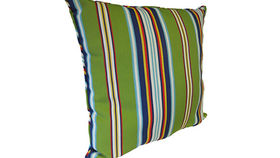 Image of a Bright Striped Pillow