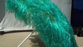 Image of a Umbrella: Raffia Green