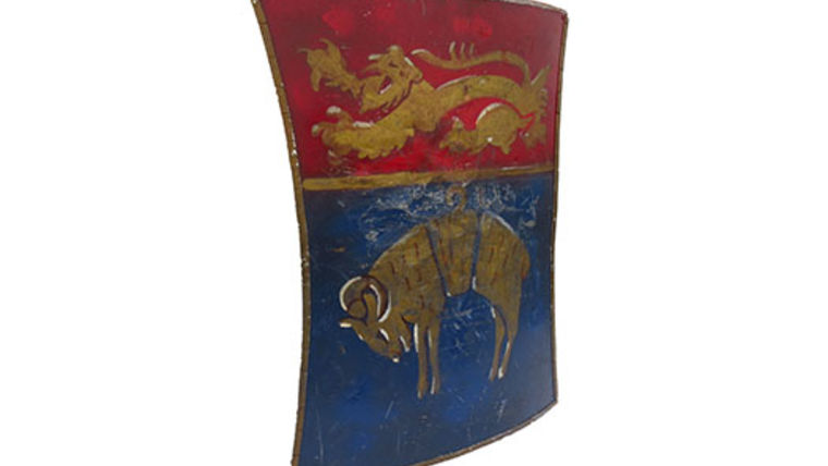 Picture of a Prop: Shield, Medieval Target with Ram