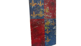 Image of a Prop: Shield, Medieval Scutum Red and Blue