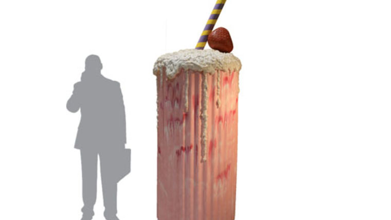 Image of a Prop: 1950s Giant Milkshake Strawberry