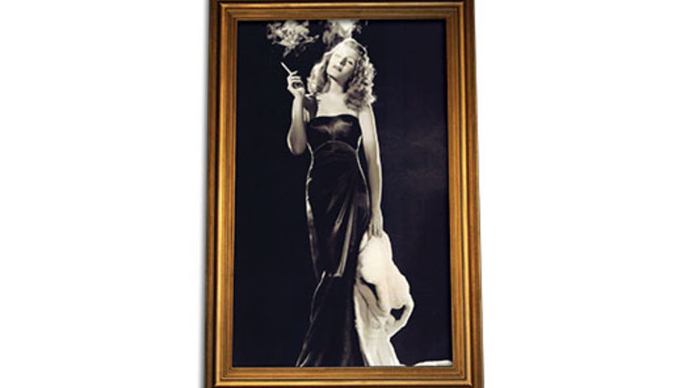 Picture of a Prop: Hollywood, Rita Hayworth B/W Photo in Gold Frame 5x8