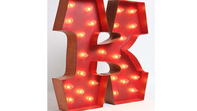 Image of a Carousel Shadow Box Letter, K