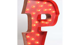 Image of a Carousel Shadow Box Letter, P