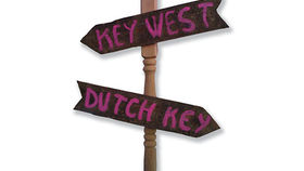 Image of a Sign: Beach, Dutch Key