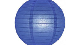 "Image of a Paper Lanterns: 18"" Blue on Lamp Wire"