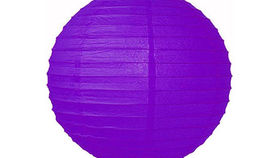 "Image of a Paper Lanterns: 18"" Purple on Lamp Wire"