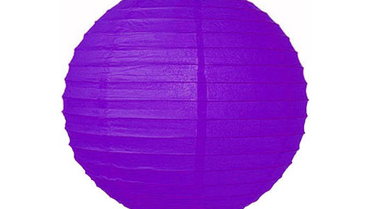 "Picture of a Paper Lanterns: 18"" Purple on Lamp Wire"