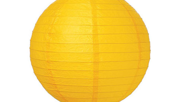 "Picture of a Paper Lanterns: 18"" Yellow on Lamp Wire"