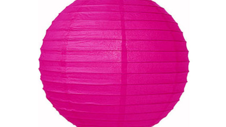 "Picture of a Paper Lanterns: 18"" Pink on Lamp Wire"