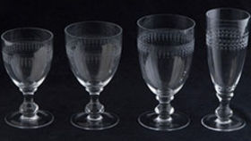 Image of a Glassware: Etched Water Glass