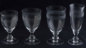 Image of a Glassware: Etched White Wine Glass