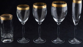 Image of a Glassware: Imperial Gold Rim Flute Champagne Glass