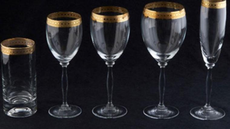 Picture of a Glassware: Imperial Gold Rim White Wine Glass