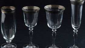Image of a Glassware: Imperial Platinum Rim Flute Champagne Glass