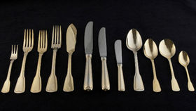 Image of a Flatware: Hampshire Gold Dessert/Soup Spoons