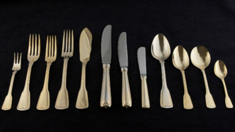 Flatware: Hampshire Gold Dessert/Soup Spoons : goodshuffle.com