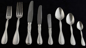 Image of a Flatware: Infinity Silver Plated Dessert/Soup Spoons