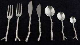 Image of a Flatware: Twig Silver Dessert/Salad Forks
