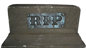 Image of a Prop: Halloween, Tombstone R.I.P Rectangle