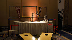 Image of a Vignette: Sports, Football Tailgate