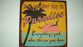 "Image of a ""Just another day..."" Beach Sign"