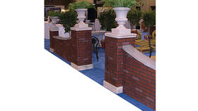 Image of a Entrances: Brick Pillars and Urns