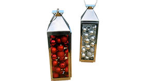 Image of a Lanterns: Polished Aluminum with Ornaments