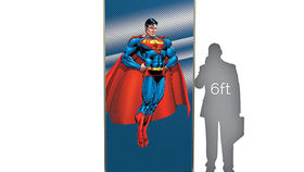 Image of a Lit Silhouette Wall: Superman