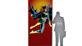 Image of a Lit Silhouette Wall: Bat Girl