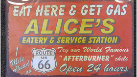 Image of a Diner Sign, Alice's Eatery