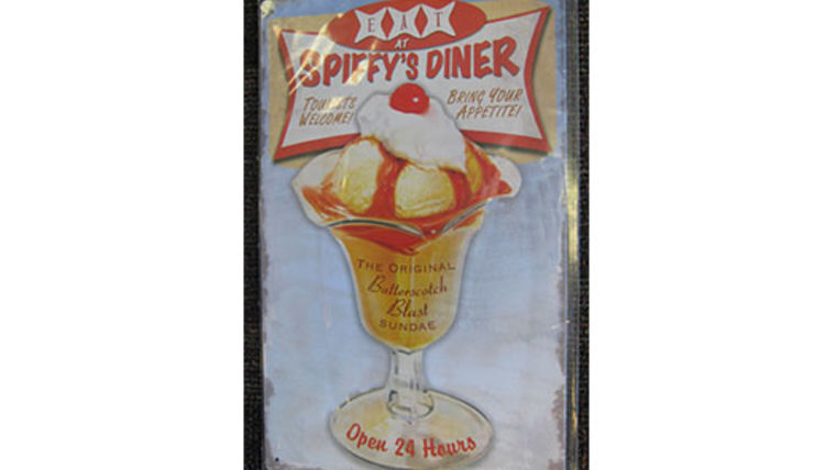 Image of a Diner Sign, Spiffy's Diner