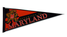 Image of a Sign: Sports Pennant, U of Maryland
