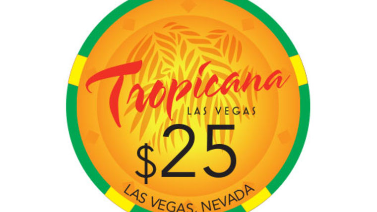 Tropicana Poker Chip, Orange : goodshuffle.com