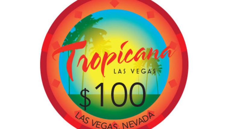 Picture of a Tropicana Poker Chip, Red