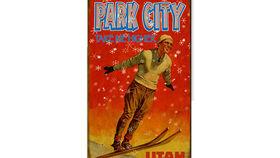 Image of a Vintage Ski Sign, Park City