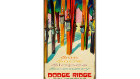 Image of a Vintage Ski Sign, Dodge Ridge