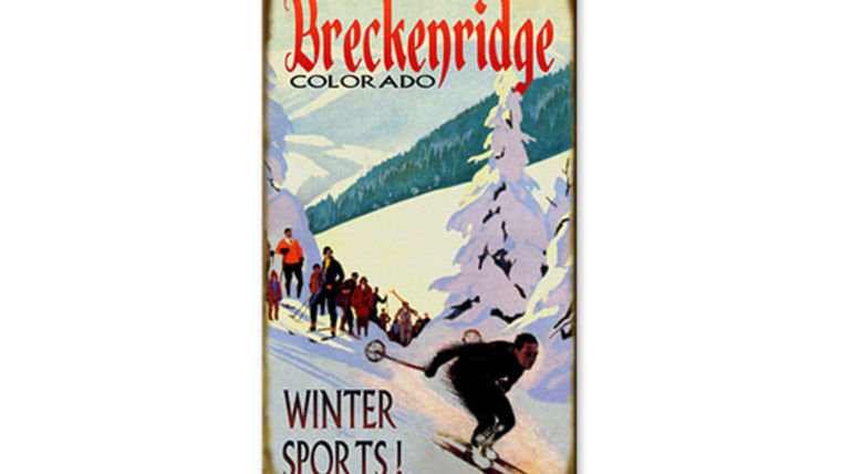 Picture of a Vintage Ski Sign, Breckenridge