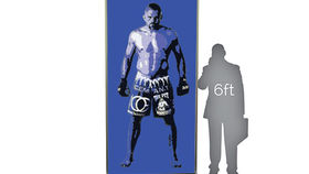 Image of a Lit Silhouette Wall: Chuck Liddell