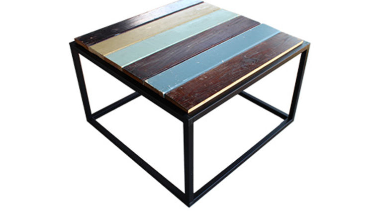 Image of a Besto Frame Coffee Table with Reclaimed Wood Top