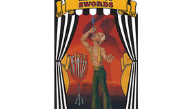 Image of a Side Show Banner, Sword Swallower