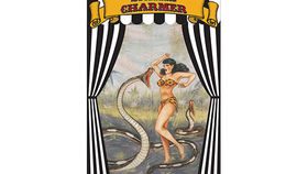 Image of a Side Show Banner, Snake Charmer