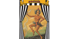 Image of a Side Show Banner, Witch Doctor